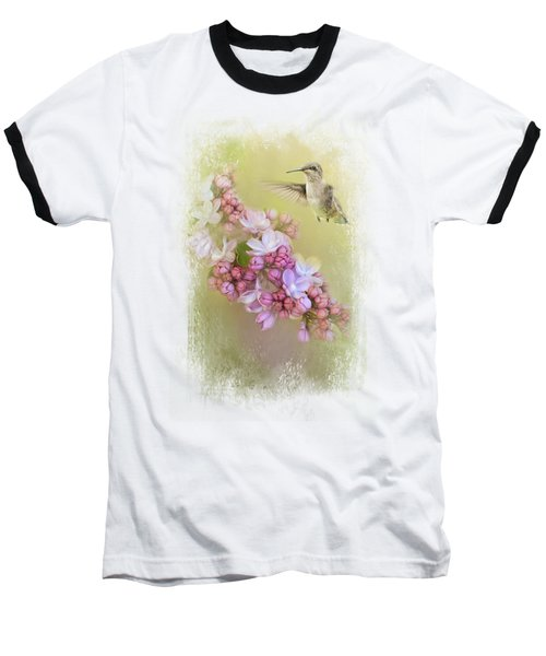 Chasing Lilacs Baseball T-Shirt by Jai Johnson