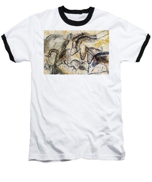 Chauvet Horses Aurochs And Rhinoceros Baseball T-Shirt