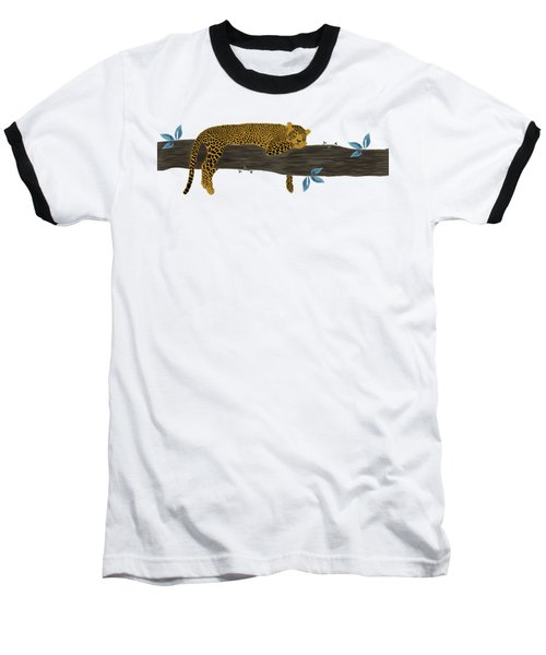 Cheetah Chill Baseball T-Shirt by Priscilla Wolfe