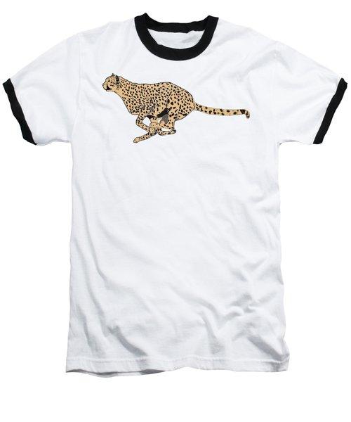 Cheetah Flash Baseball T-Shirt by Teresa  Peterson