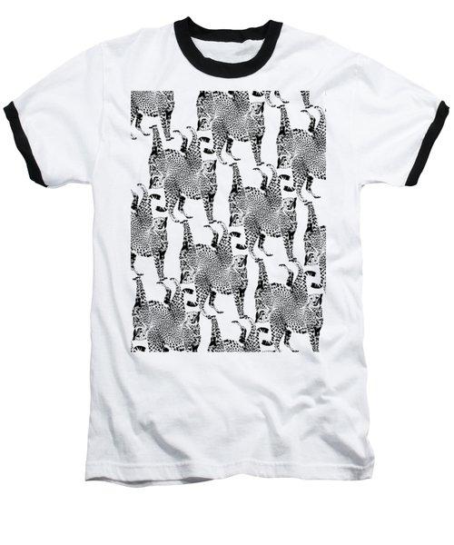 Cheetah Pattern Baseball T-Shirt by Greg Noblin