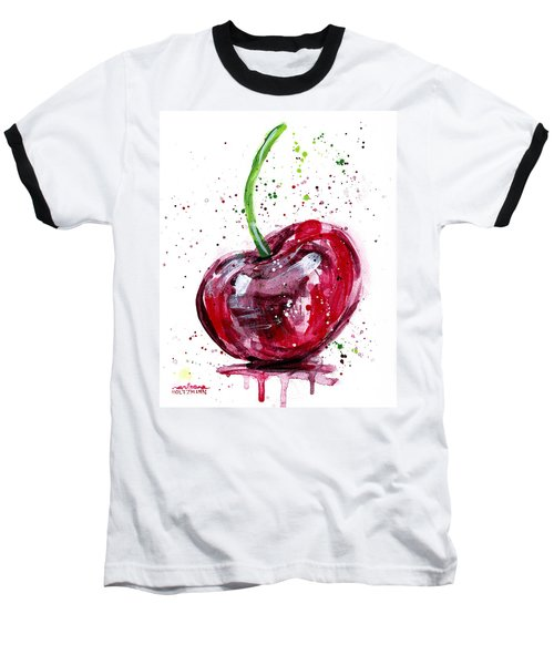 Cherry 2 Baseball T-Shirt by Arleana Holtzmann