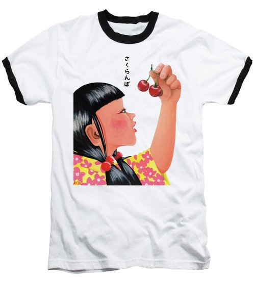 Cherry Baseball T-Shirt by Akiko Okabe