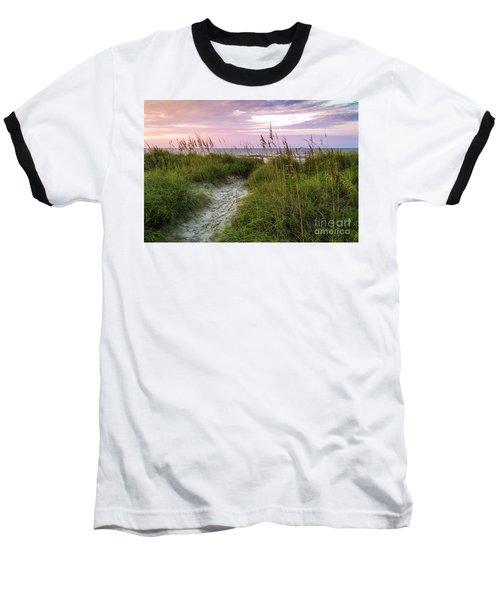Cherry Grove Beach Scene Baseball T-Shirt