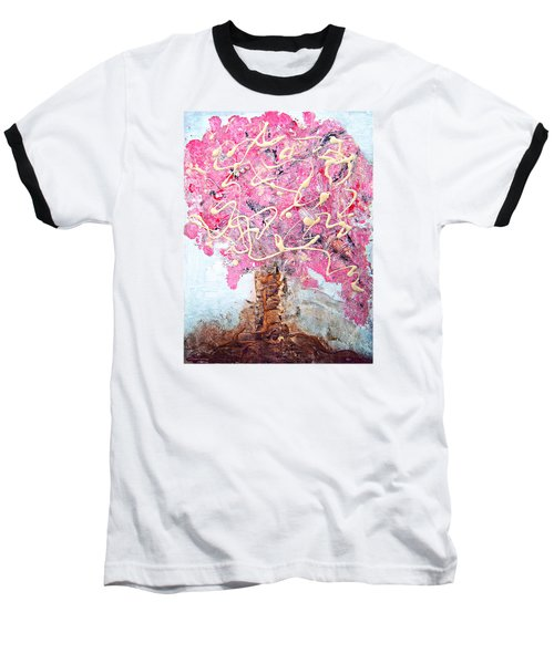 Cherry Tree By Colleen Ranney Baseball T-Shirt