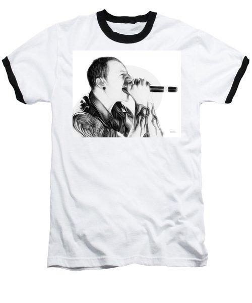 Chester Bennington Illustration  Baseball T-Shirt