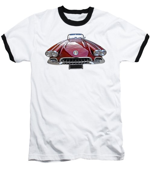 Chevrolet Corvette C1 1958 Head On Baseball T-Shirt