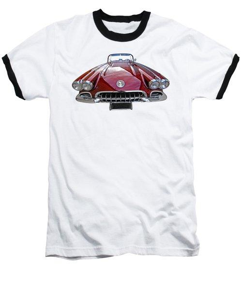 Chevrolet Corvette C1 1958 Head On Baseball T-Shirt