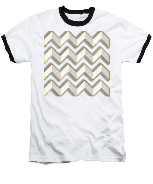 Chevrons - Gold Edges Baseball T-Shirt