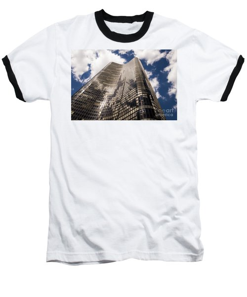 Baseball T-Shirt featuring the photograph Chicago Building by Zawhaus Photography