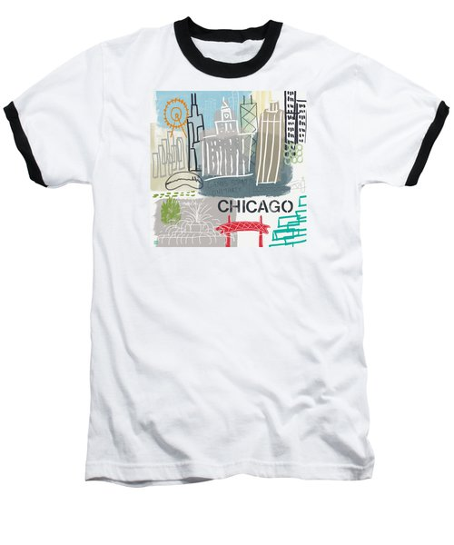 Chicago Cityscape- Art By Linda Woods Baseball T-Shirt