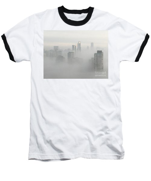Chicago In The Clouds Baseball T-Shirt by Kate Purdy