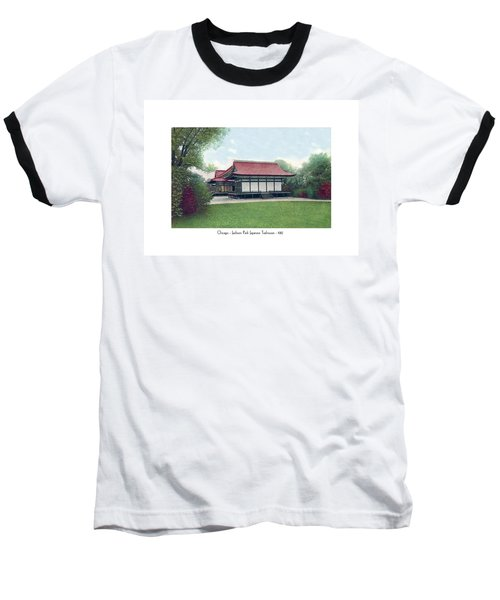 Chicago - Japanese Tea Houses - Jackson Park - 1912 Baseball T-Shirt