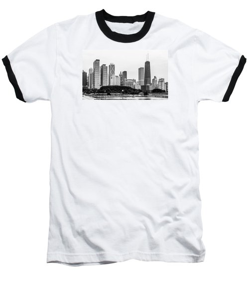 Chicago Skyline Architecture Baseball T-Shirt by Julie Palencia
