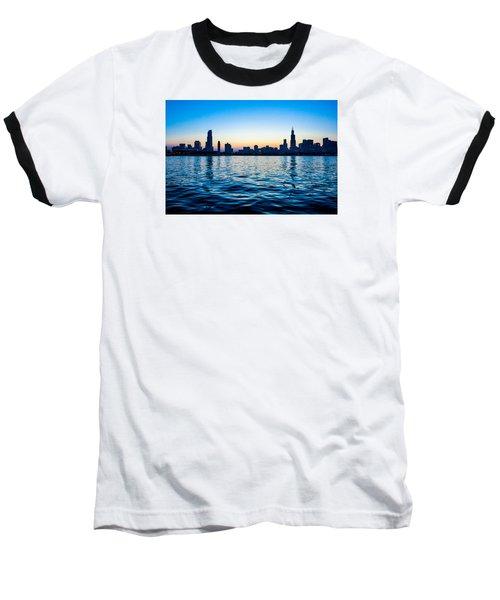 Chicago Skyline Baseball T-Shirt