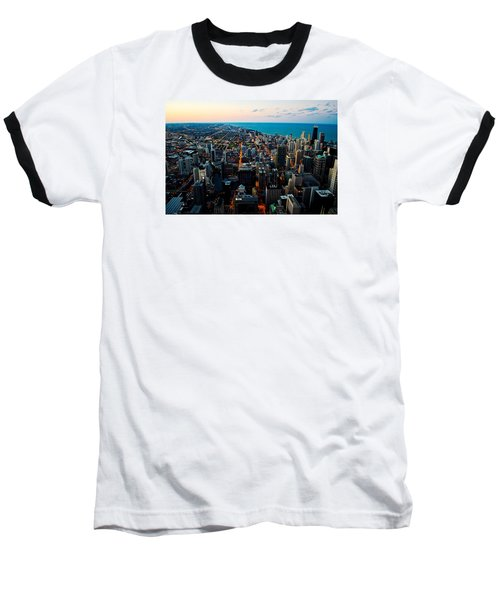 Baseball T-Shirt featuring the photograph Chicago Skyline by Richard Zentner