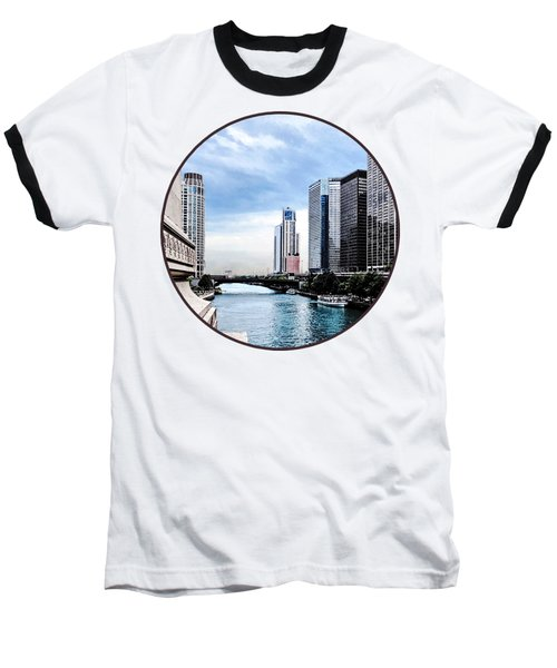 Chicago - View From Michigan Avenue Bridge Baseball T-Shirt