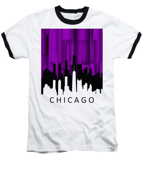 Chicago Violet Vertical  Baseball T-Shirt by Alberto RuiZ