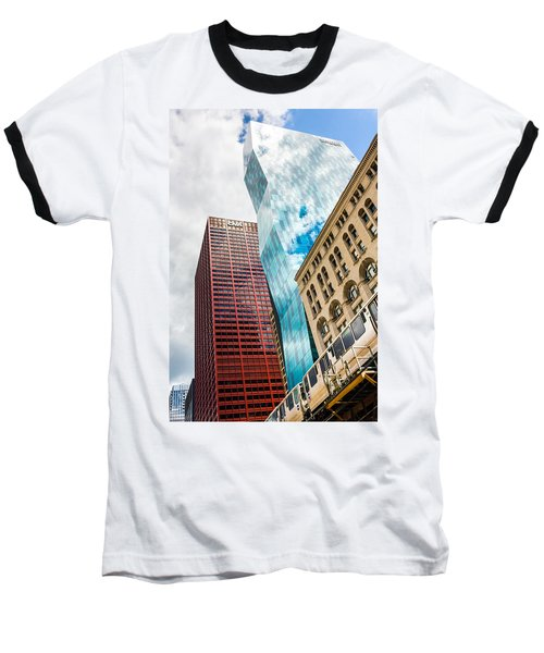 Chicago's South Wabash Avenue  Baseball T-Shirt by Semmick Photo