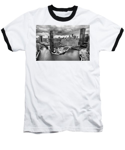 Chicago's Wolf Point From The 27th Floor Baseball T-Shirt