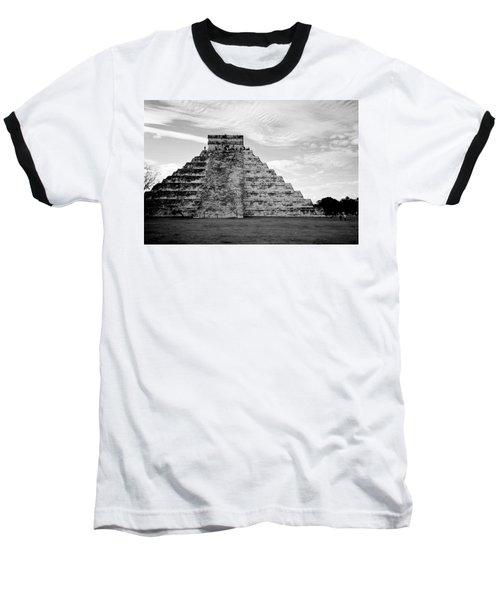 Chichen Itza B-w Baseball T-Shirt