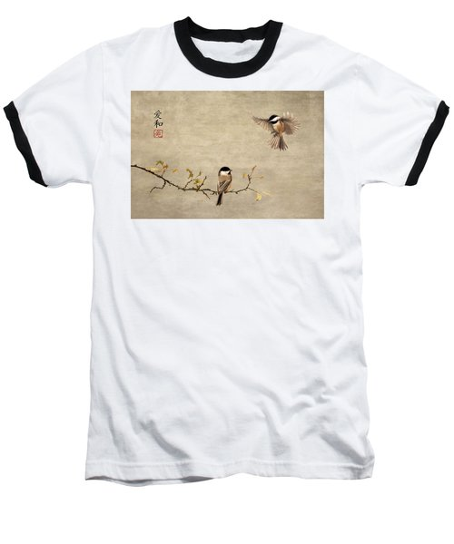 Chickadee Encounter II Baseball T-Shirt