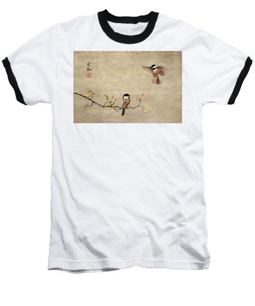 Chickadee Encounter II Baseball T-Shirt