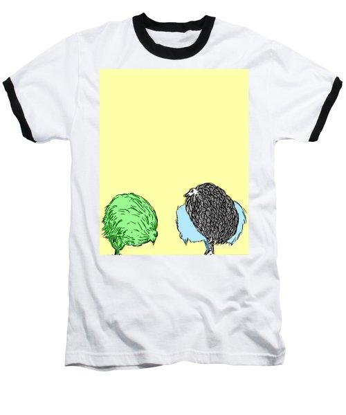 Chickens Three Baseball T-Shirt by Jason Tricktop Matthews