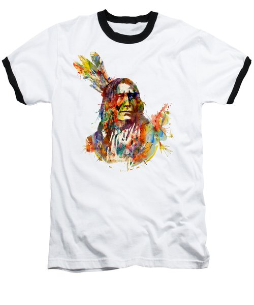 Chief Mojo Watercolor Baseball T-Shirt