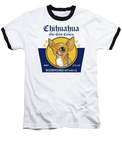 Chihuahua One-eyed Cerveza Baseball T-Shirt