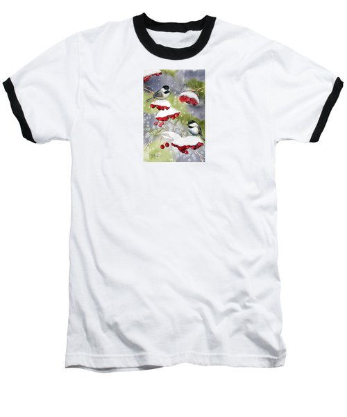 Chilly Chickadees Baseball T-Shirt