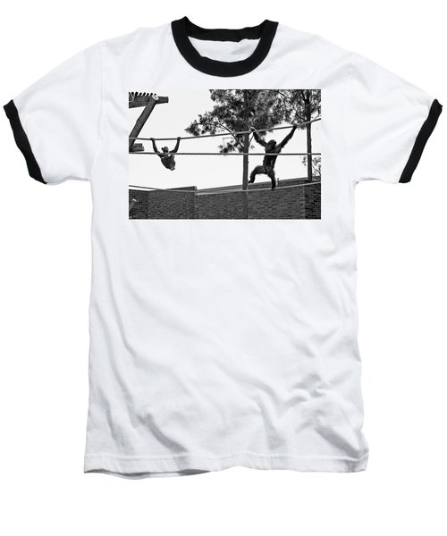 Baseball T-Shirt featuring the photograph Chimps In Black And White by Miroslava Jurcik