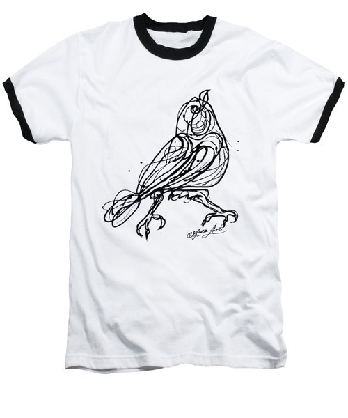 Chin Up Little Buttercup  Abstract Pollock Style On Paper Baseball T-Shirt