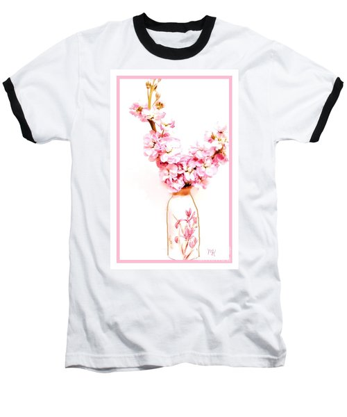 Baseball T-Shirt featuring the digital art Chinese Bouquet by Marsha Heiken