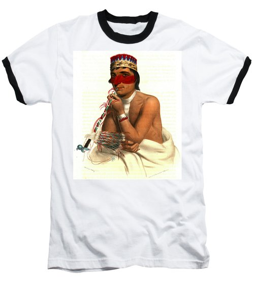 Baseball T-Shirt featuring the photograph Chippeway Chief 1836 by Padre Art