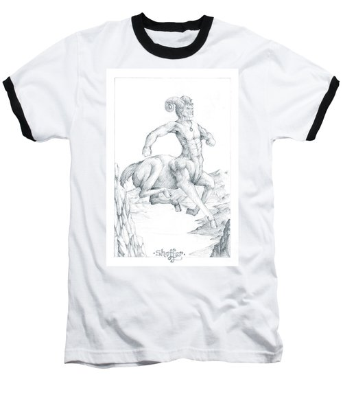 Baseball T-Shirt featuring the drawing Chiron The Centaur by Curtiss Shaffer