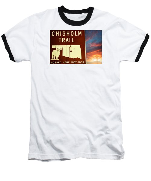 Baseball T-Shirt featuring the photograph Chisholm Trail Oklahoma by Bob Pardue