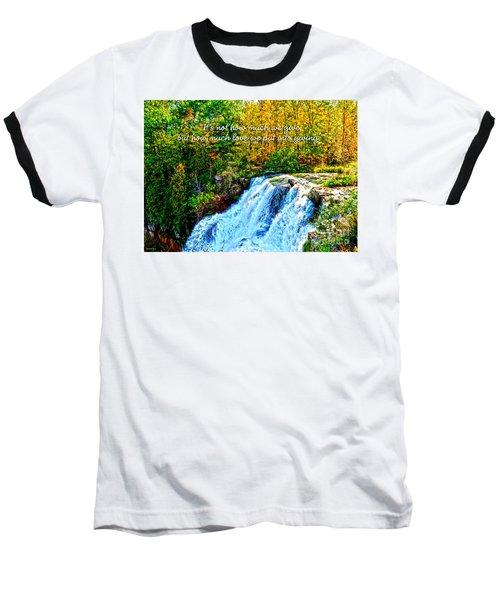 Baseball T-Shirt featuring the photograph Chittenango Falls, Ny Mother Teresa  by Diane E Berry