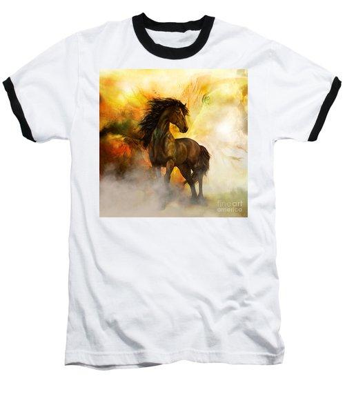 Chitto Black Spirit Horse Baseball T-Shirt
