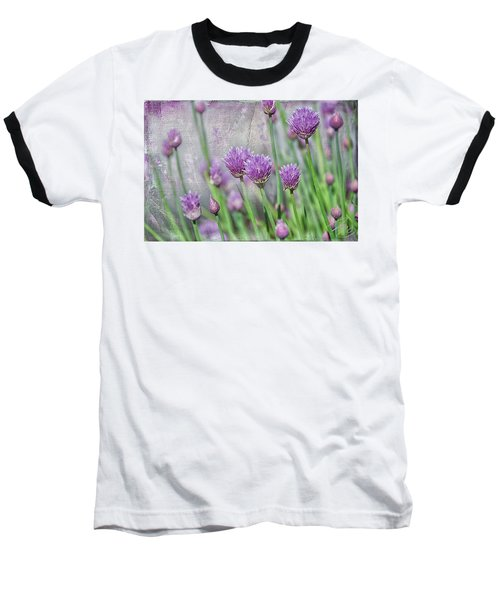 Chives In Texture Baseball T-Shirt