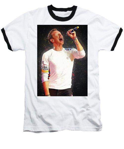 Chris Martin - Coldplay Baseball T-Shirt by Semih Yurdabak