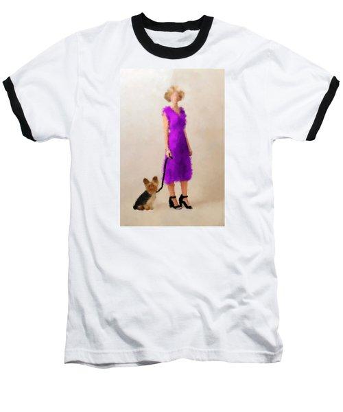 Baseball T-Shirt featuring the digital art Christina by Nancy Levan