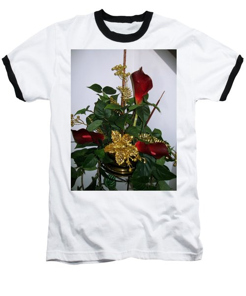 Baseball T-Shirt featuring the photograph Christmas Arrangemant by Sharon Duguay