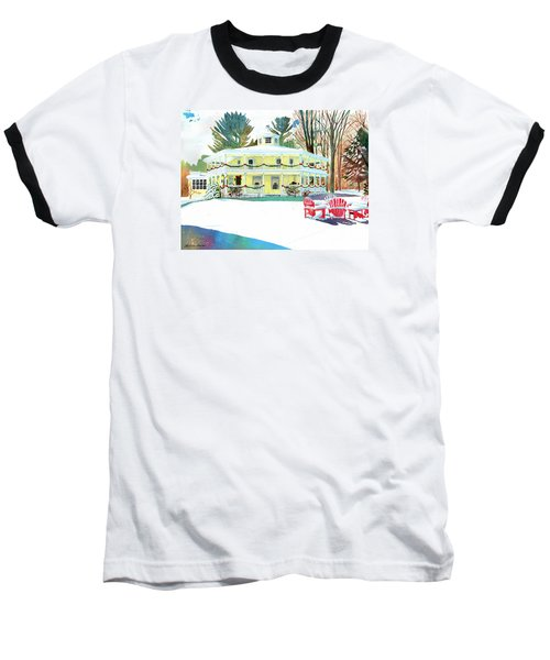 Christmas At The Hexagon House Baseball T-Shirt by LeAnne Sowa