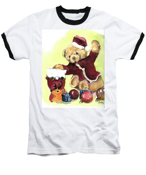 Christmas Bear Baseball T-Shirt