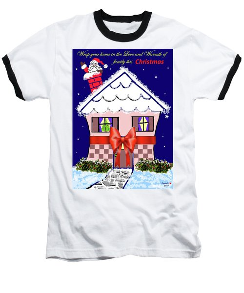 Christmas Card Baseball T-Shirt