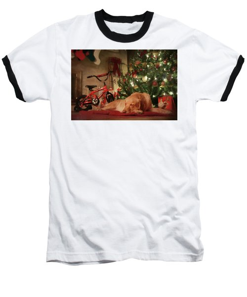 Baseball T-Shirt featuring the photograph Christmas Eve by Lori Deiter
