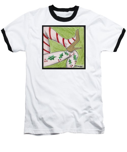 Christmas Legs Baseball T-Shirt
