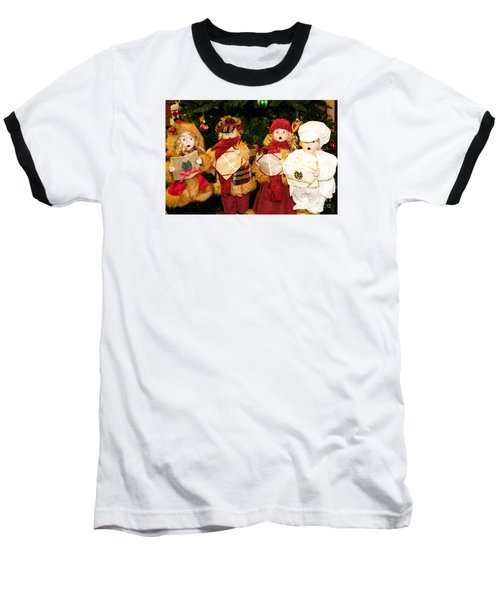 Christmas Quartet Baseball T-Shirt by Vinnie Oakes