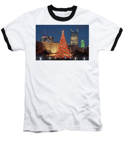 Baseball T-Shirt featuring the photograph Christmas  Season In Pittsburgh  by Emmanuel Panagiotakis